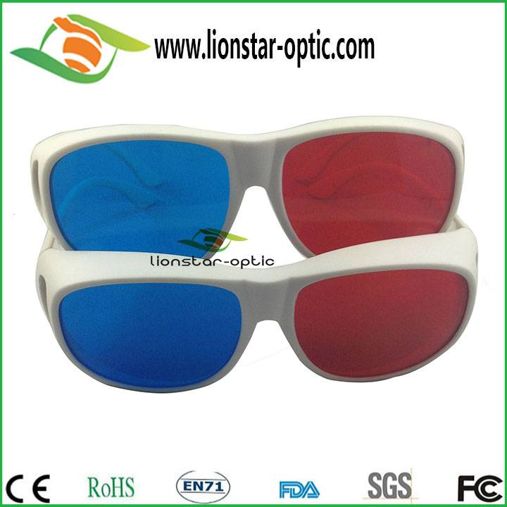 Wholesale red cyan 3d glasses