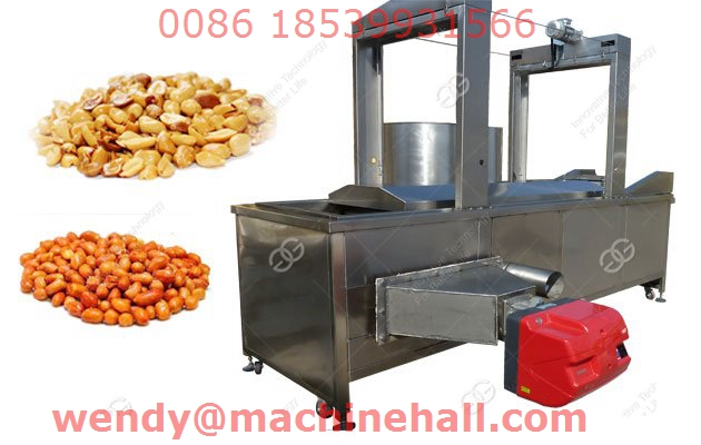 Automatic Continuous Peanut Fryer Machine with best selling