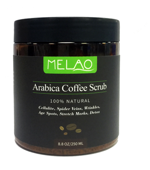 Exfoliating Coffee Body Scrub - Best Exfoliator Sea Salt Olive Oil & Shea Butter - Acne Treatment Ex