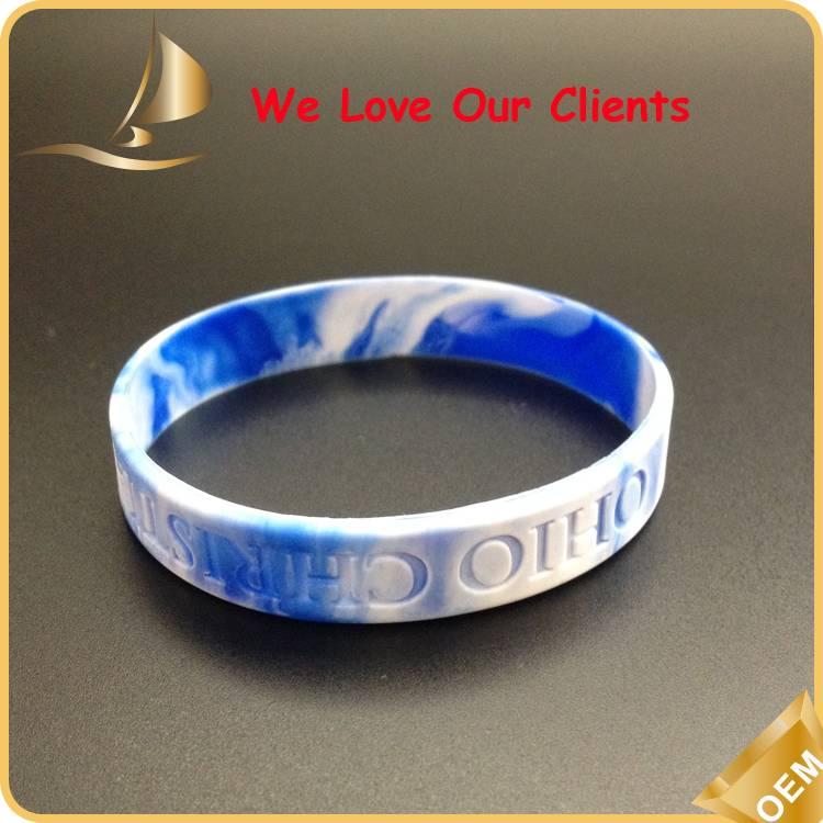 custom logo silicone wristbands
