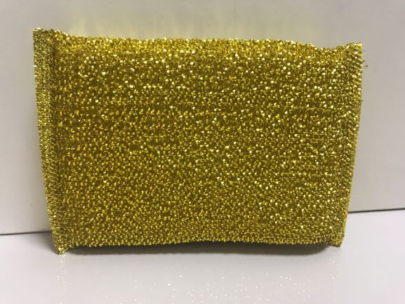 High Quality Kitchen Golden Silver Sponge Dish Washing Cleaning Sponge Scouring Pad