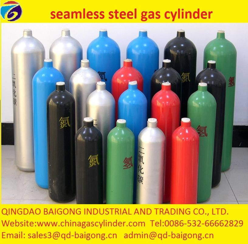 ISO9809 Standard seamless steel gas cylinder