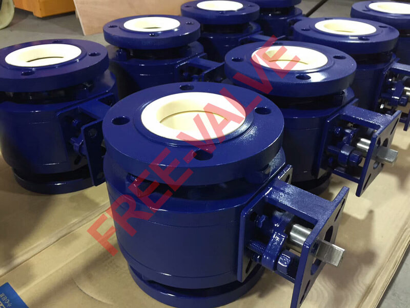 Pneumatic Actuator Flange Type Adjustable Zirconium Ceramic Ball Valve