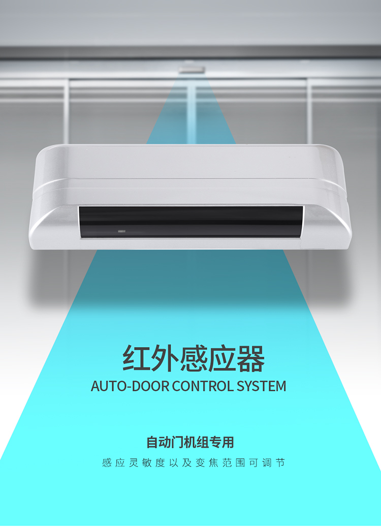 Reflective infrared detector, automatic door safety sensor, safety detector
