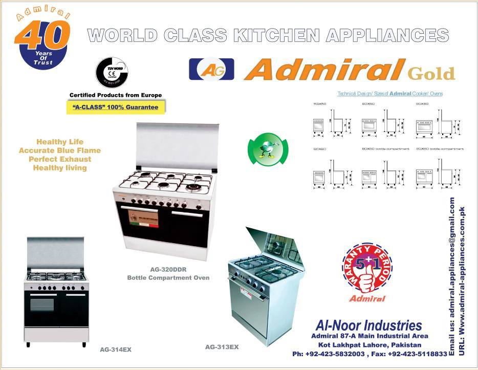 AG-313EX ADMIRAL 60X60 OVEN