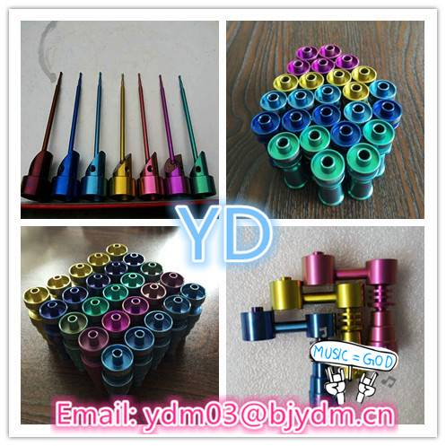 highly educated Various domeless GR2 colorful titanium nails