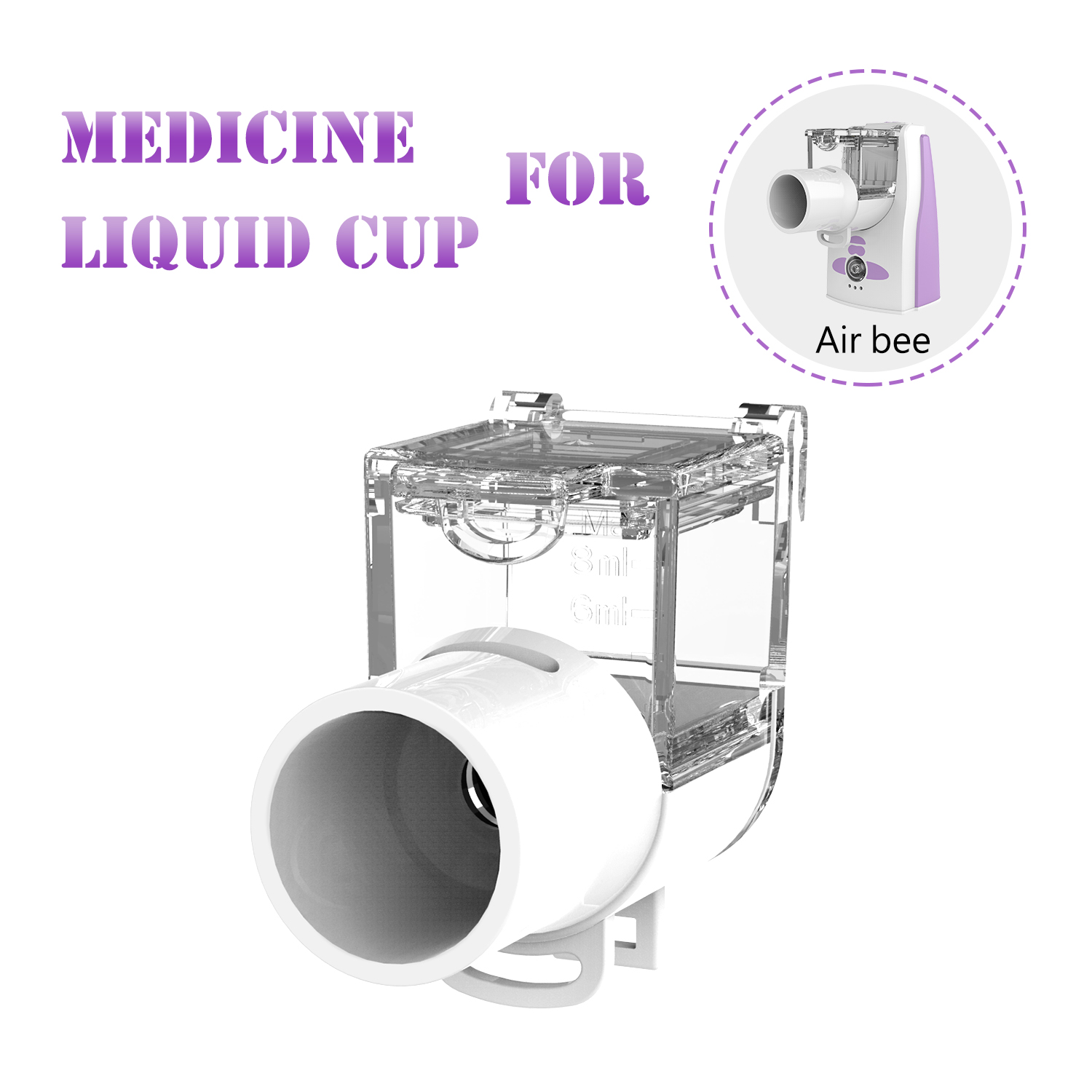Portable Mesh Nebulizer Air Bee Liquid Cup Medication Cup