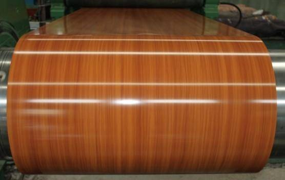 wooden PPGI prepainted galvanized steel sheet/plate