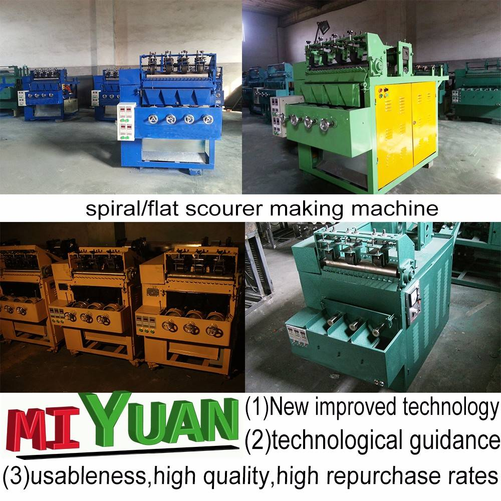 China factory scourer making machine
