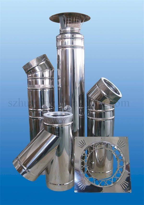 double wall stainless steel chimney pipe