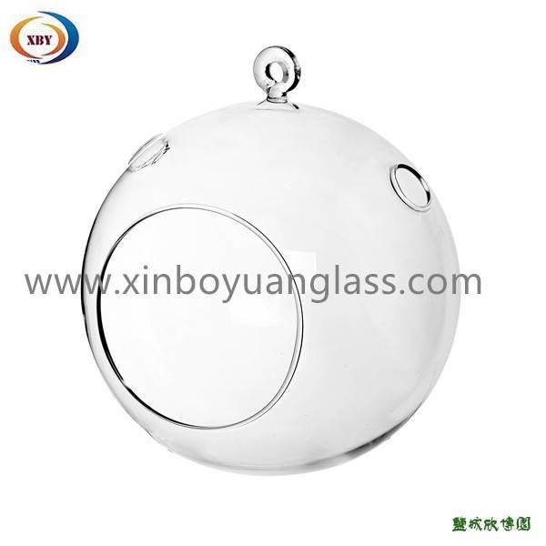 Hanging glass terrarium ball vase