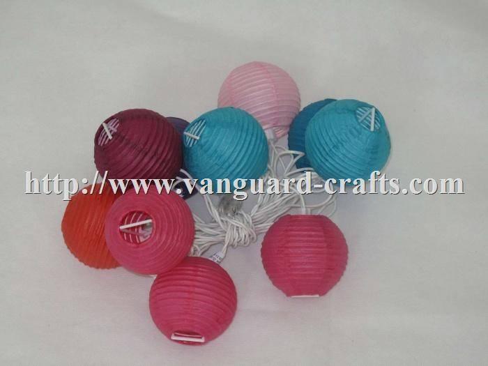 Paper Lantern Led Christmas Light Strings