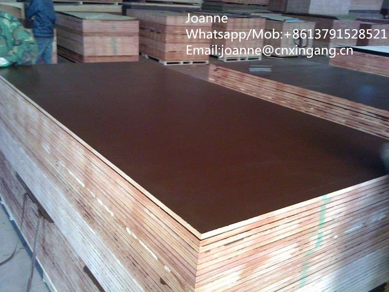 18mm waterproof glue brown color film faced plywood for construction