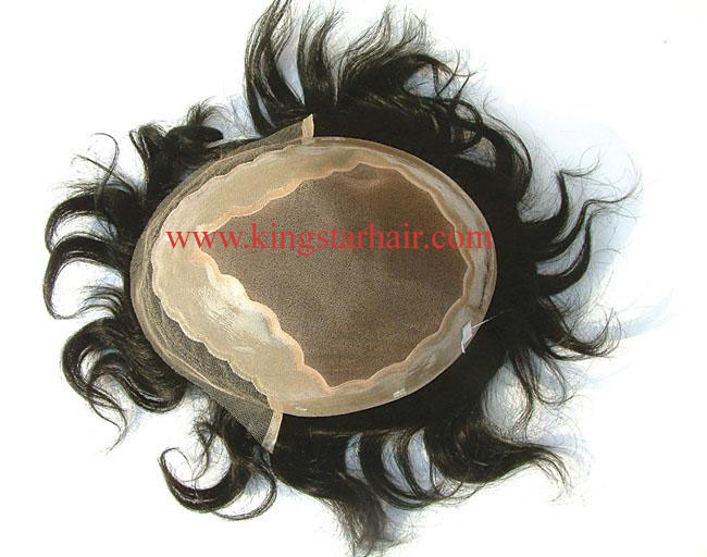 remy indian hair toupee hair replacement for man