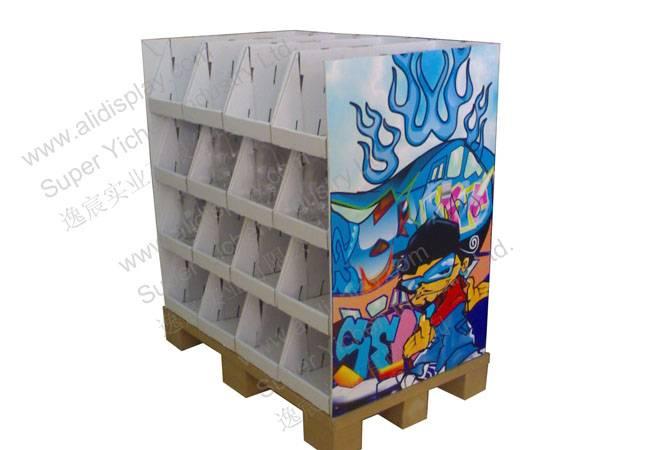 350Gram CCNB B Flute Corrugated Cardboard Shelf Flooring Display Stand