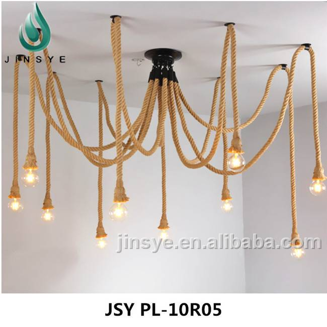 hemp rope spider ceiling lamps ceiling light and lighting lamp