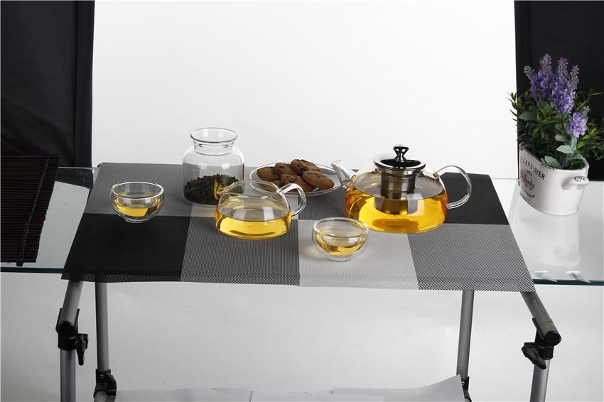 Unique Design Borosilicate Glass Stainless Steel Teapot