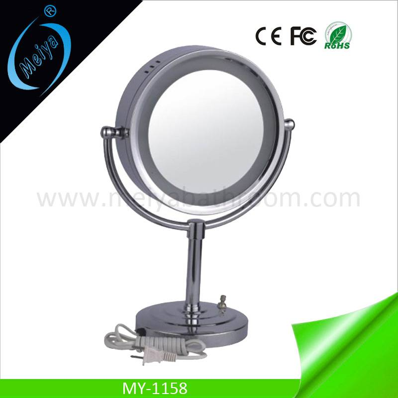 LED modern standing mirror, wedding table decoration mirror with lights