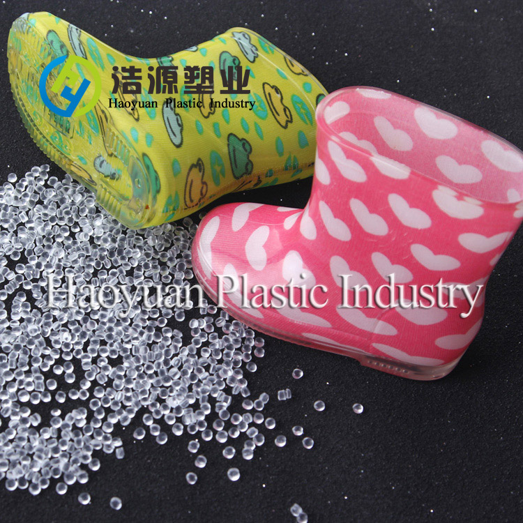 Crystal Soft PVC Granules for Rainboots