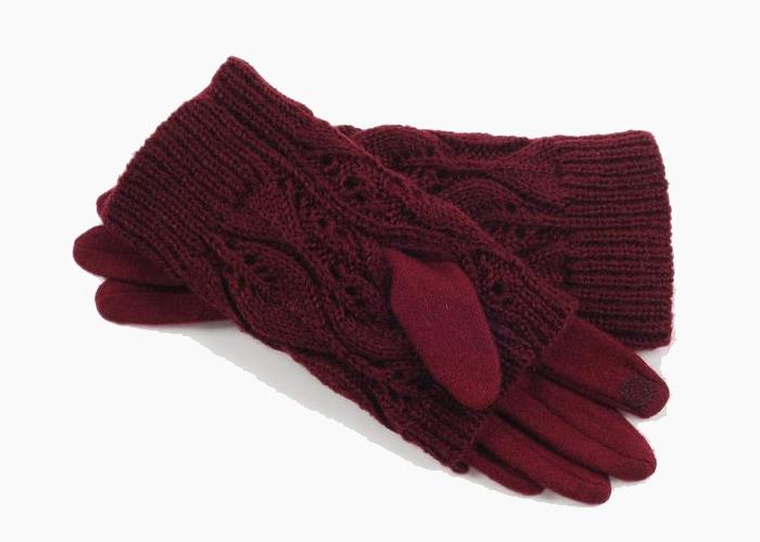 export high quality woolen women winter warm glvoes