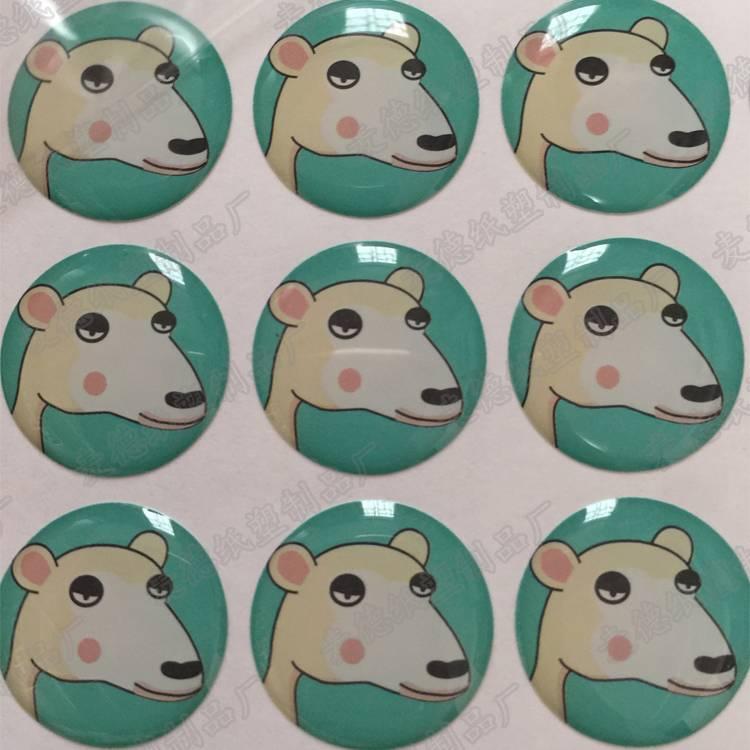 3D dome silicone resin epoxy sticker for decoration