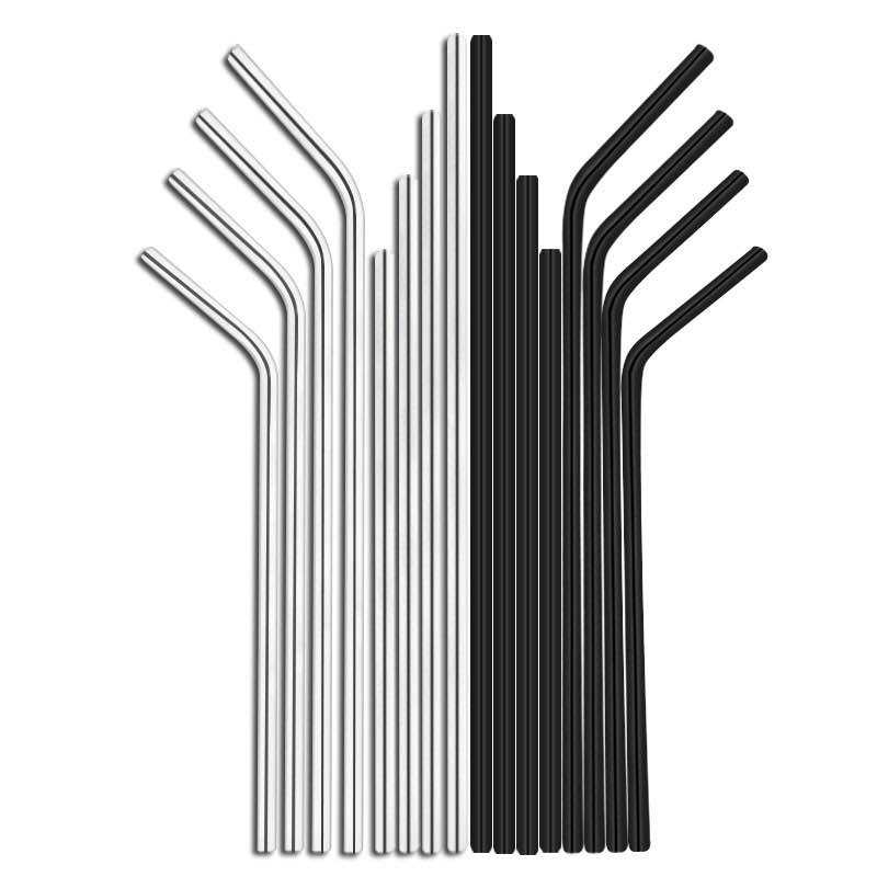 Best Quality Durable Low MOQ Fine Polishing Stainless Steel 304 Straw Set For Drinking