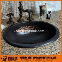 Luxury undermount copper art basin for bath