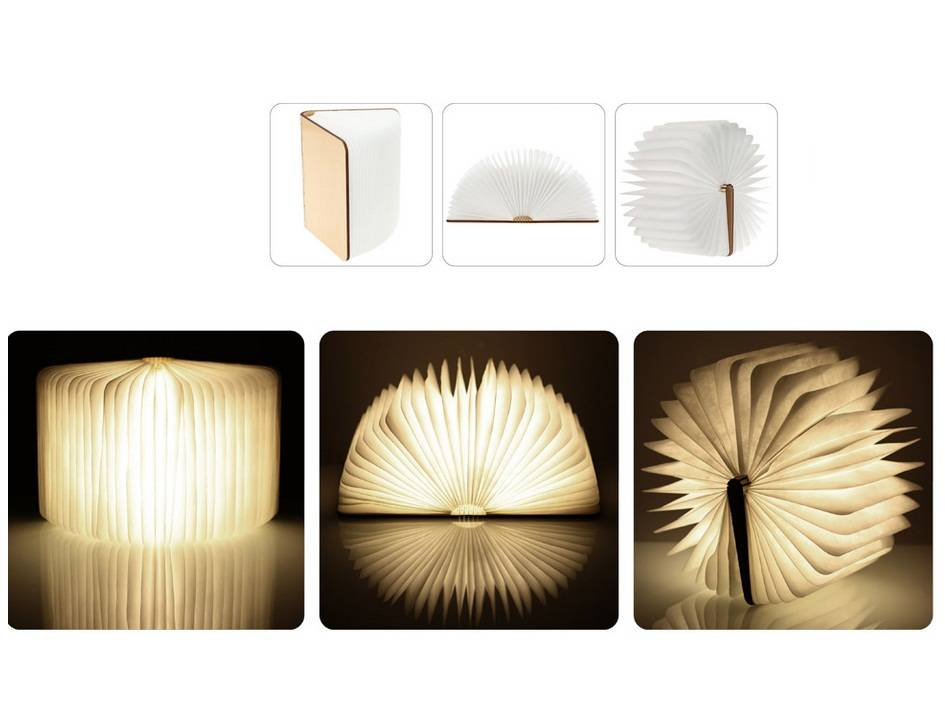 portable LED folding lamp book