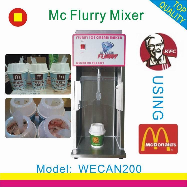 wecan200 mc flurry ice cream mixer machine/soft ice cream machine with factory wholesale price