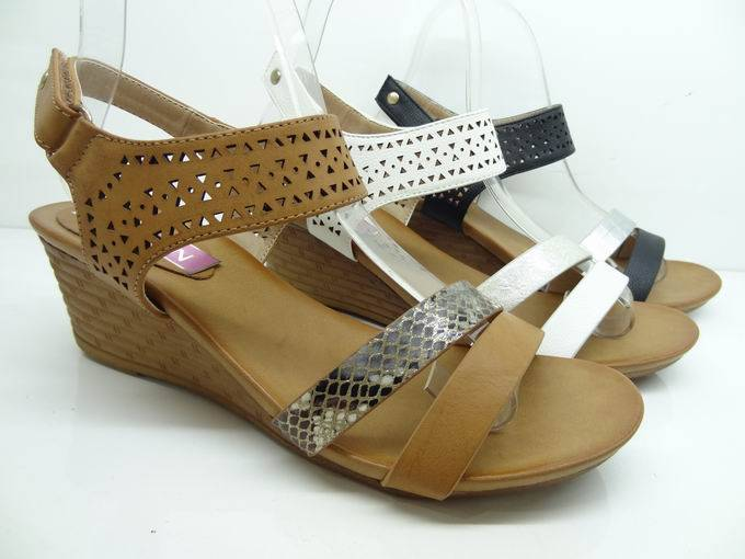 Lady high heeled shoes, Lady Wedges sandals