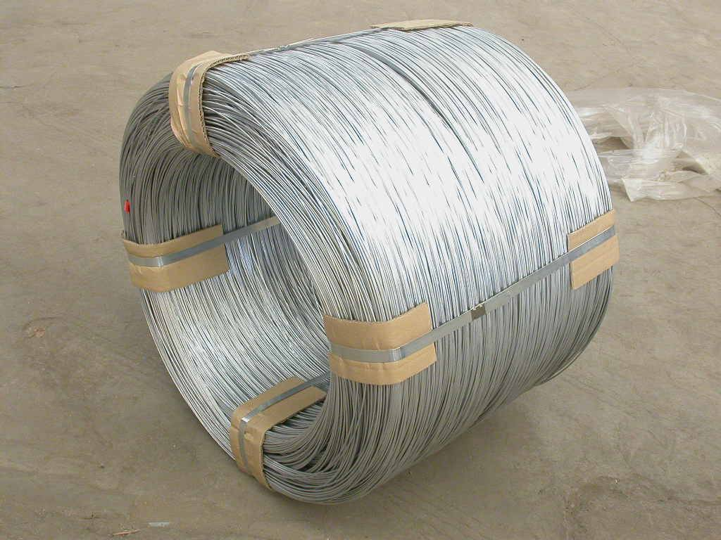 supply high quality heat treated galvanized wire ( galvanized wire rod )