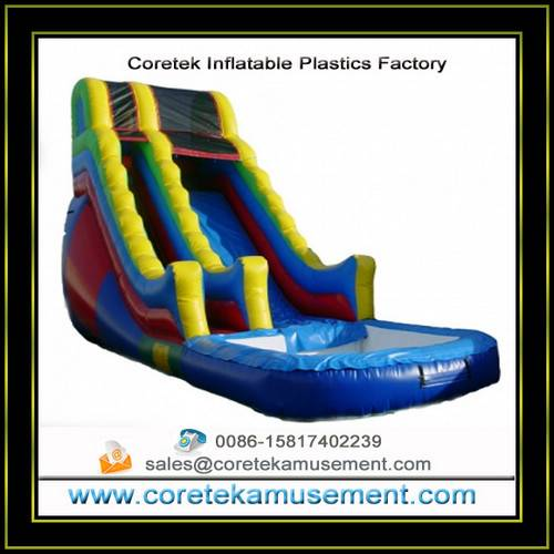 plastic inflatable slide outdoor games