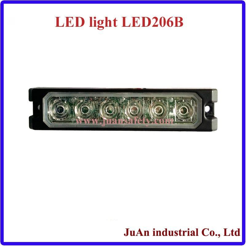 LED Vehicle Warning Surface Mount Grille Warning Amber Lighthead LED206B