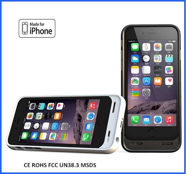 3200mah MFI External Protective Backup Battery Charger Case for Iphone 6