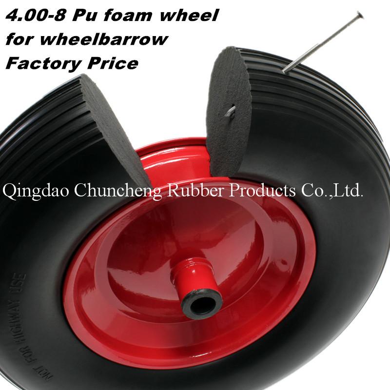 PU Polyurethane Foam Tire 4.80 4.00-8 Solid Rubber Spoke Wheels