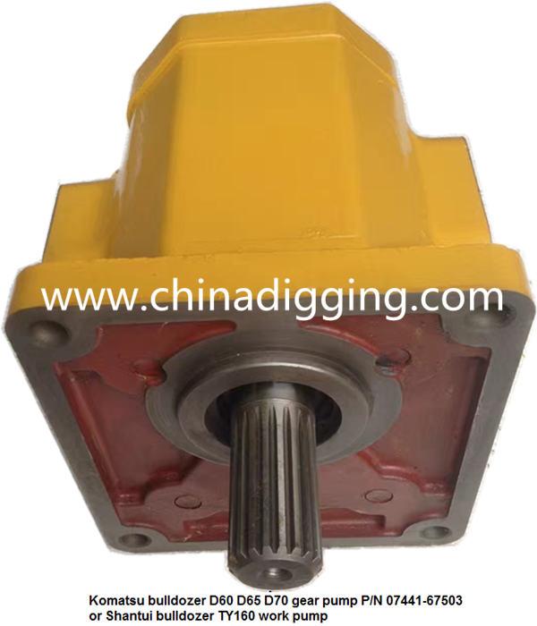 Komatsu D41E dozer gear pump bulldozer pump