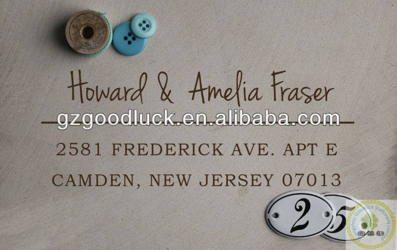 Custom personalized address rubber stamp/Custom personalized address stamp supplies
