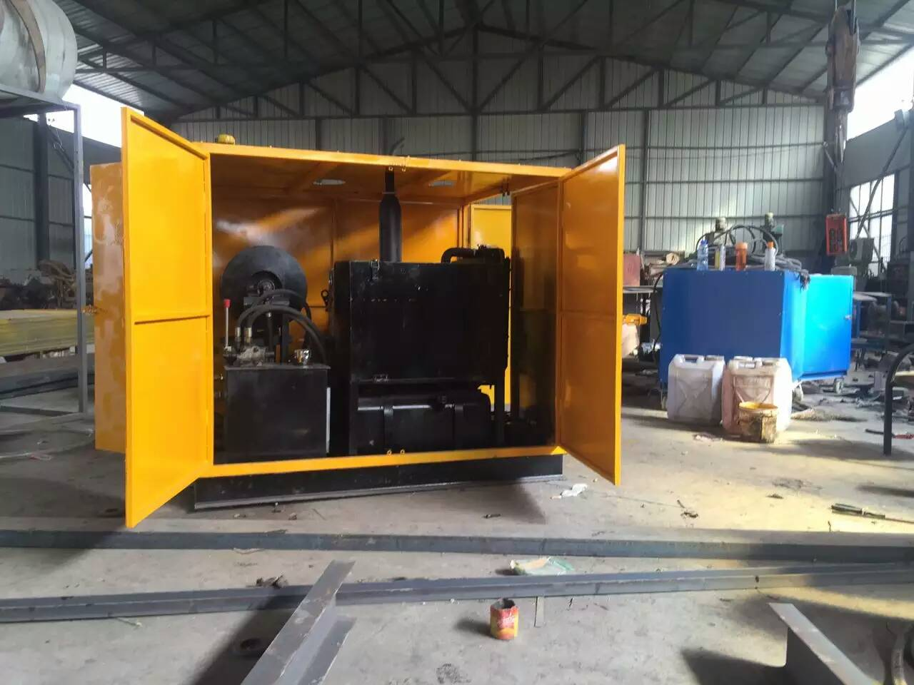 1500 Bar Diesel Driven High Pressure Cleaner For Coal and Mine Plant