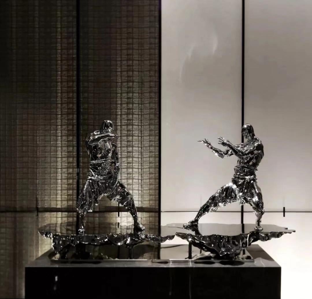 Chinese Kung Fu Human Sculpture