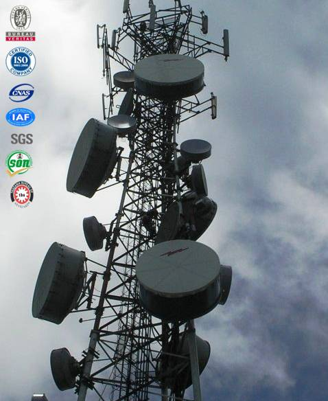 high quality effective hot dip galvanized steeled telcom communication tower