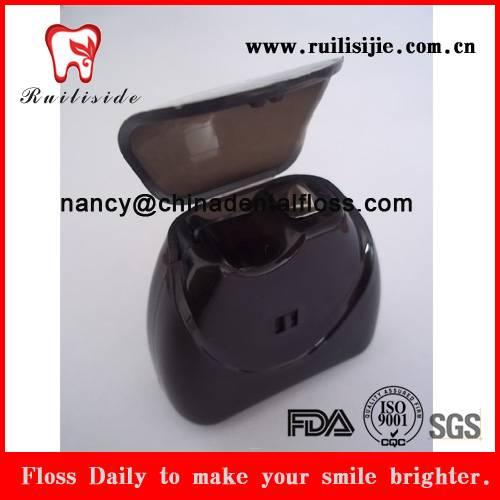 bulk dental floss triangle shape dental flosser PTFE black color dental floss