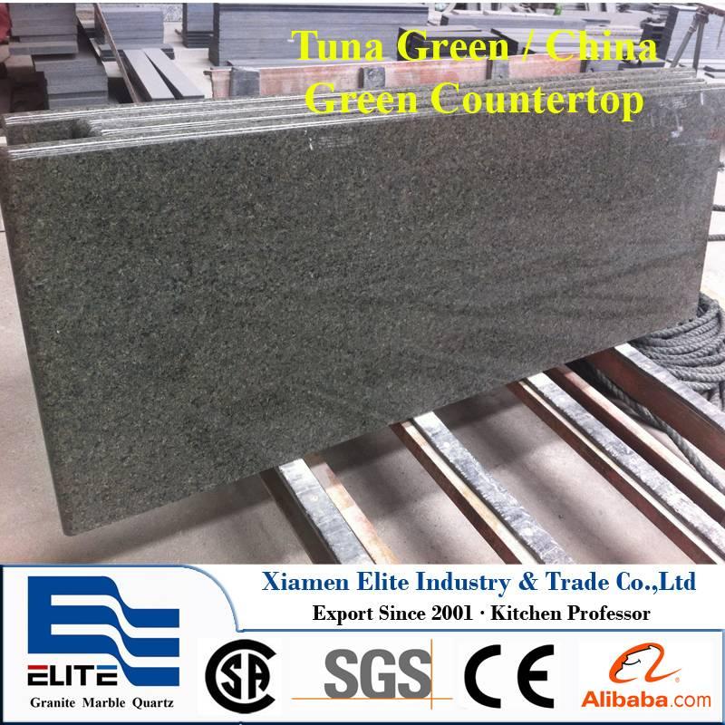 Tuna Green Granite Prefab Countertop