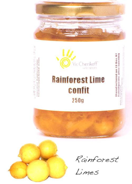 Rainforest lime confit (250g)
