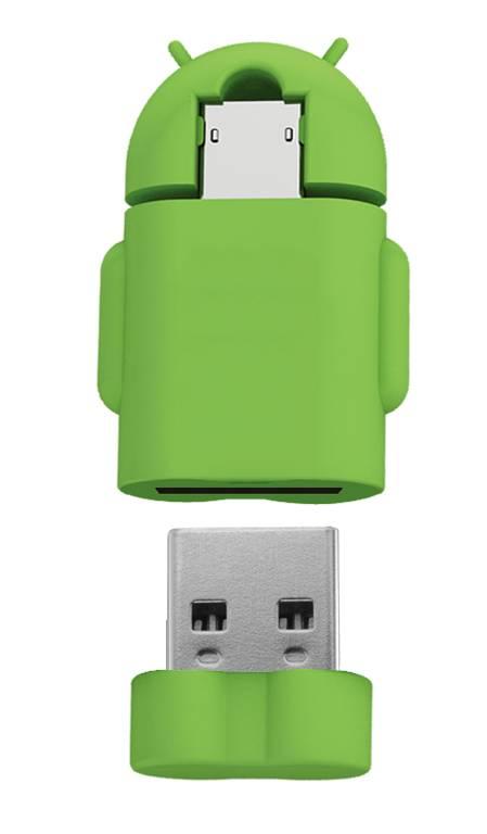 2014 New design 3D Andriod image OTG USB Flash Drive 4GB 8GB 16GB 32GB
