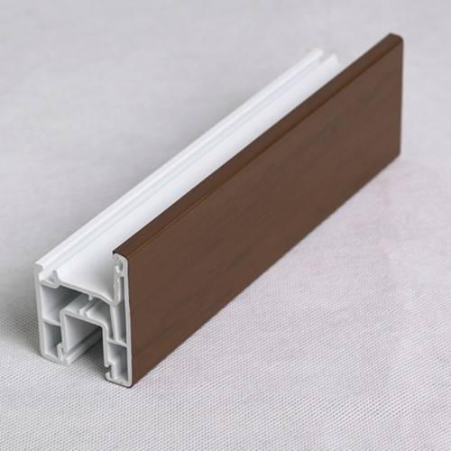 U-shaped plastic profile for sliding window laminated crafts