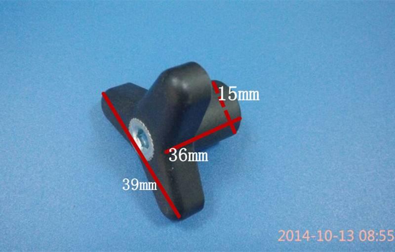 black plastic nylon 39mm blind hole M6 three star handle knob