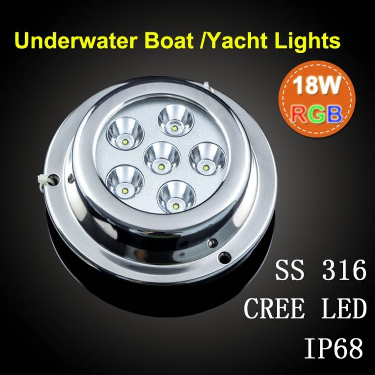 Long Life Ip68 18w Waterproof Rgb Led Underwater Light