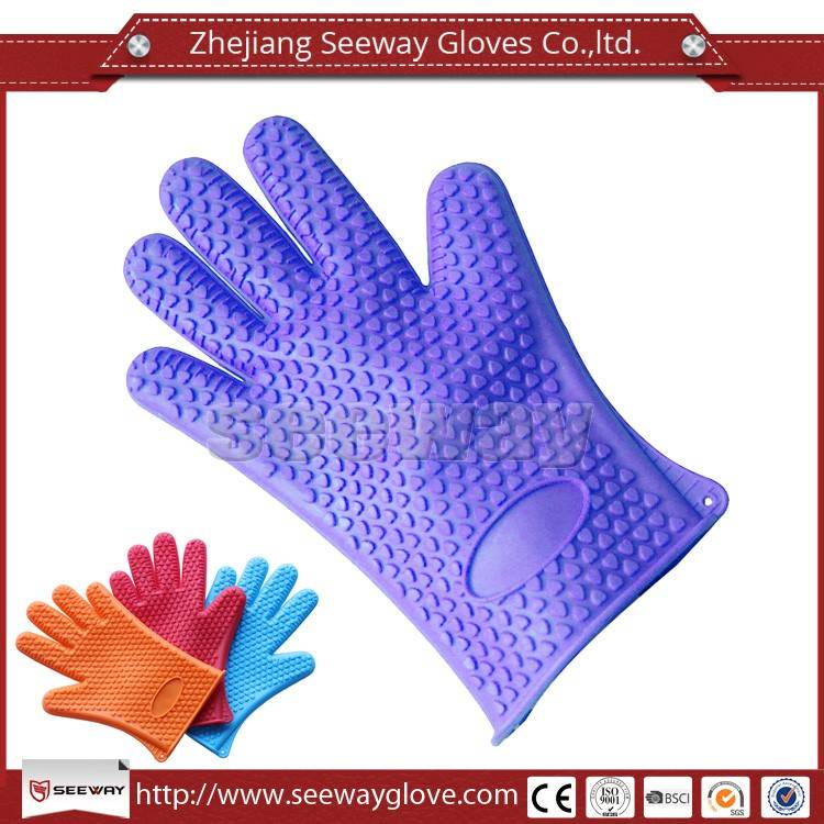 SeeWay F200-D Kitchen Cooking Oven Heat Resistant Silicone Gloves