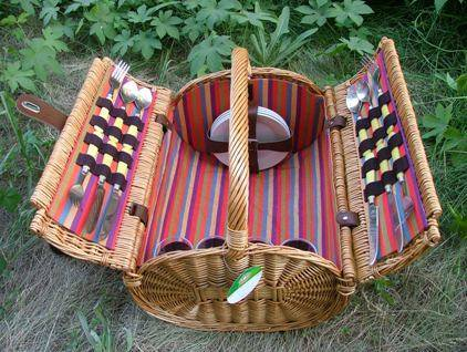 4 person wicker Picnic Basket HD-H006