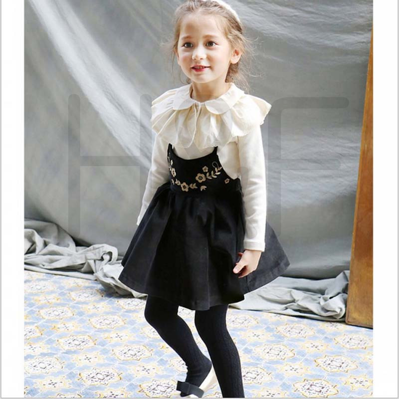 Kids Clothes Children Clothing Sets Shirt+Strap Dress Suit for Girls Dress Tutu Dresses Sets Princes